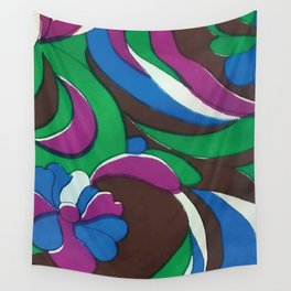 Psychedelic Garden Wall Tapestry