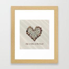 Pebbles On The Beach Framed Art Print