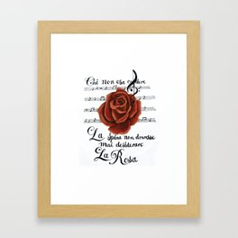 La Rosa Framed Art Print