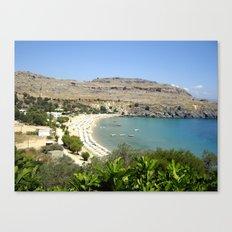 Rhodes, Greece Beach  Canvas Print