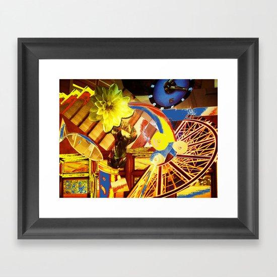 Collage Love-Under Pressure Framed Art Print