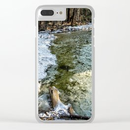 Yosemite Creek with some Frazil Ice Clear iPhone Case