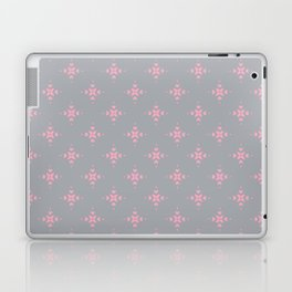 Ornamental Pattern with Grey and Pink Colourway Laptop & iPad Skin