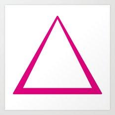 Pink Triangle  Art Print