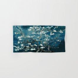 Van Gogh Almond Blossoms : Dark Teal Hand & Bath Towel