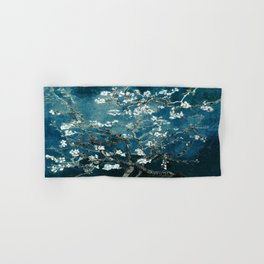 Van Gogh Almond Blossoms : Dark Teal Hand & Bath Towel