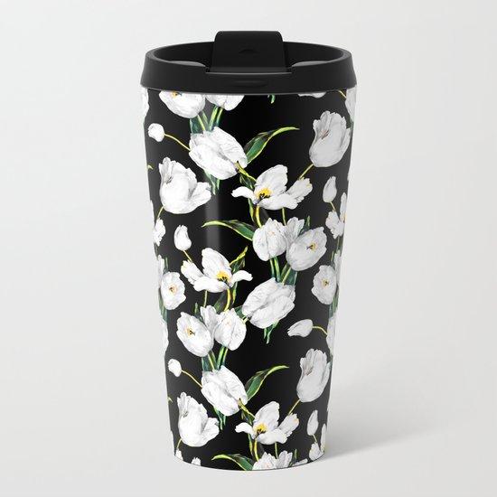 Floral Dream Metal Travel Mug