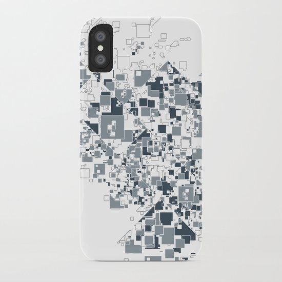 Broken and pixels  iPhone Case