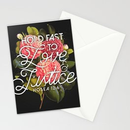 LOVE AND JUSTICE Stationery Cards