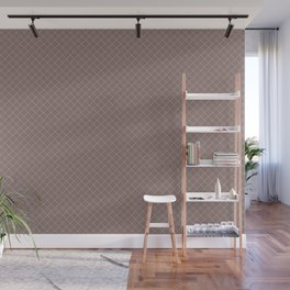 Earthy Green on Grape Vine Purple Parable to 2020 Color of the Year Back to Nature Angled Grid Wall Mural