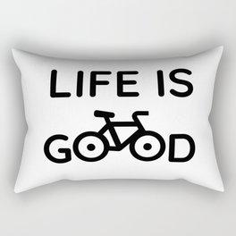 Bike Quotes - Life is Good Rectangular Pillow