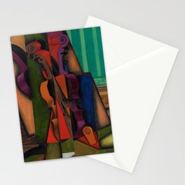 Classical Masterpiece 'Violin and Guitar' by Juan Gris Stationery Cards