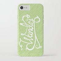 not all who wander iPhone & iPod Cases featuring Not All Who Wander... by Christine Fleming
