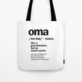 Oma Gift For Grandma Women Birthday Mother Day Gift Tote Bag