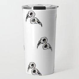 birds patterns white Travel Mug