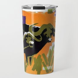 Air Afrique Chad Vintage Travel Poster Travel Mug