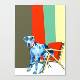 Great Dane in Chair #1 Canvas Print