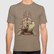 Slow Architecture Tri-Coffee LARGE Mens Fitted Tee