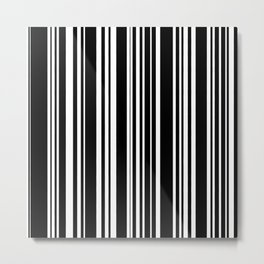 Barcode Metal Print