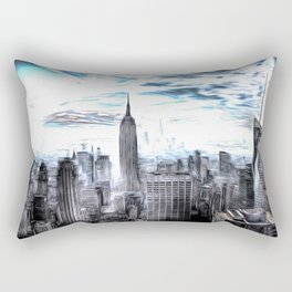 Manhattan Art Rectangular Pillow