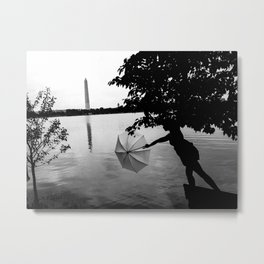 Washington Silhouette  Metal Print