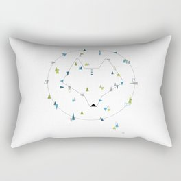 wolf. geometric Rectangular Pillow