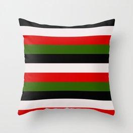 Four Tone Stripes - Christmas Throw Pillow