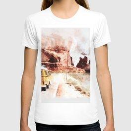 Bus Road Trip Abstract T-shirt