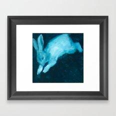 Ghost Bunny VI Framed Art Print
