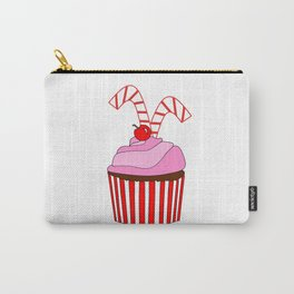 Cupcakes And Candy Canes Carry-All Pouch