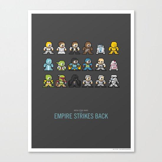 Mega Star Wars: Episode V - Empire Strikes Back Canvas Print