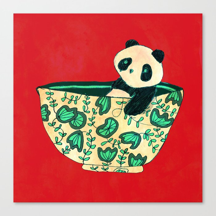Dinnerware sets - panda in a bowl Canvas Print