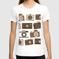 cameras T-shirts featuring cameras (black) by vitamin