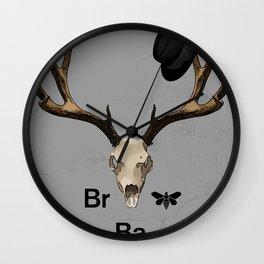 Heisenberg's hat and dead deer Wall Clock
