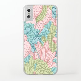 Pastel Cacti Obsession #society6 Clear iPhone Case