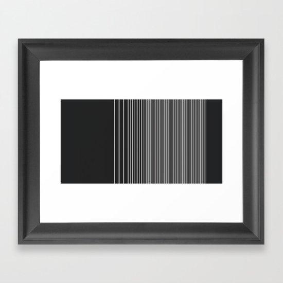 Gradient-B. Framed Art Print