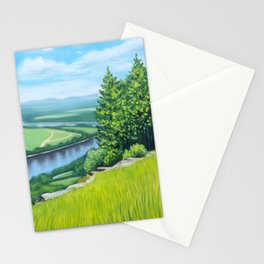 Fine Art Print of a View of the Northampton Meadows and Connecticut River from Mount Holyo Stationery Cards