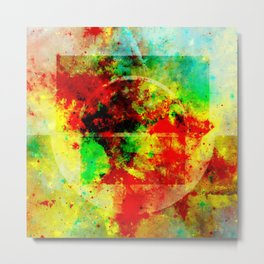 Subtle Form - Abstract colour painting Metal Print