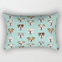 English Bulldog pattern print dog breed pet portrait gifts for dog owner bulldog Rectangular Pillow