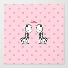 Love Giraffes (Valentine's Day Gifts / Valentine Day Gift) Canvas Print