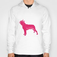 terrier Hoodies featuring Boston Terrier by Three Black Dots
