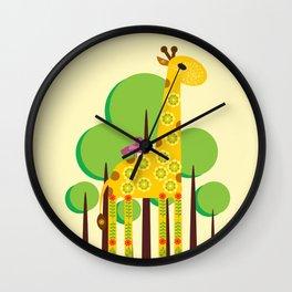 Decorated giraffe Wall Clock