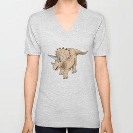 Triceratops T Shirt Unisex V-Neck