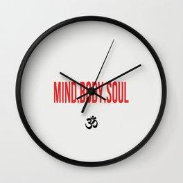 Mind.Body.Soul Wall Clock