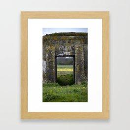 Bunkers at Alkmaar Framed Art Print