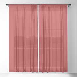 color firebrick Sheer Curtain