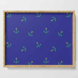 Fun and Whimsical Anchors for Sea Lovers Serving Tray