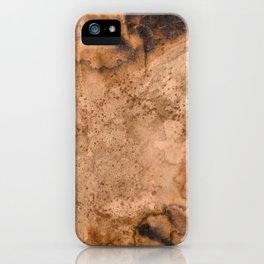 Acrylic Coffee Stained Paper iPhone Case