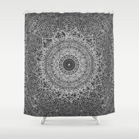 islam Shower Curtains featuring Ash Mandala by Mantra Mandala