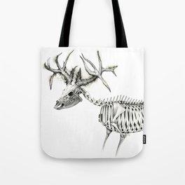 Deer Skeleton Sketch Tote Bag